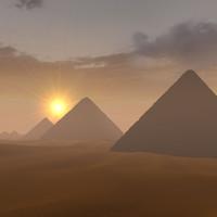 desert pyramids 3d model