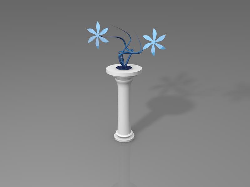3ds max glassy vase