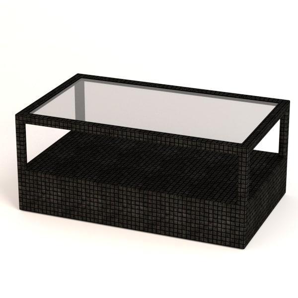 3d model of garden furniture table