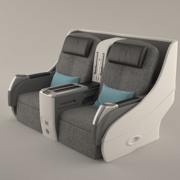 3d airplane seat