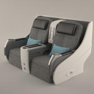 3d airplane seat