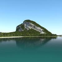 3dsmax tropical island