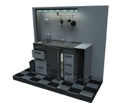 mobile kitchen 3d model