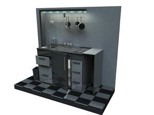 mobile kitchen 3d model