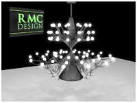 chandelier 30 rmc 3d c4d