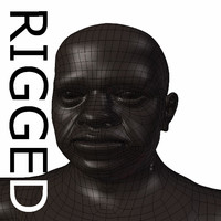 RIGGED Old black Man Base Mesh