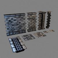 set modular dungeons walls max