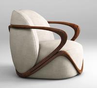 giorgetti armchair hug 3d model