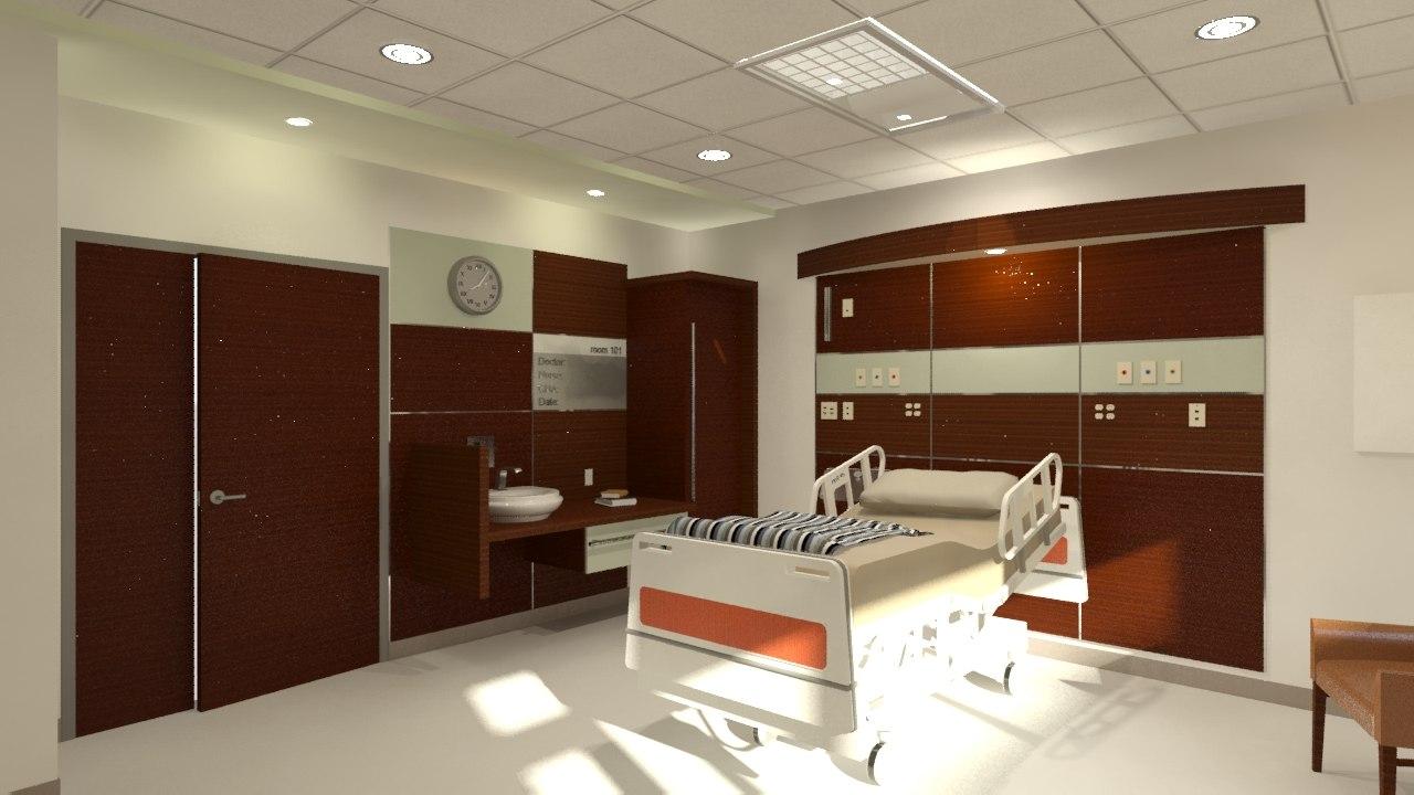 room patient 3d max