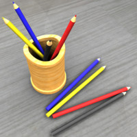 maya pencil holder