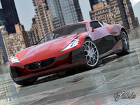 rimac concept lighting car 3d model