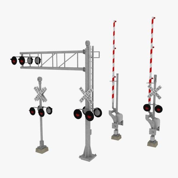 3d model railroad crossings