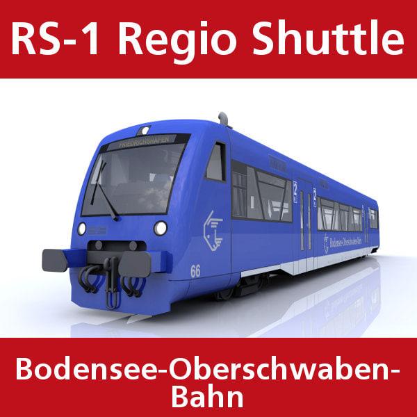 3d rs-1 regio shuttle passenger train model