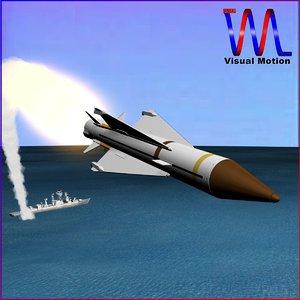 3dsmax british aerospace sea wolf