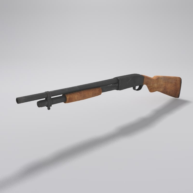 3d shotgun details model