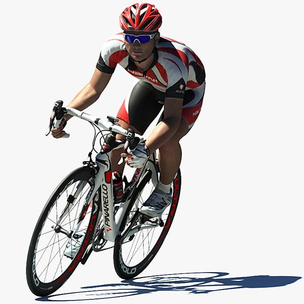 3d rider bike cycler model