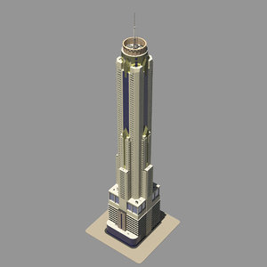 sky tower 3d max