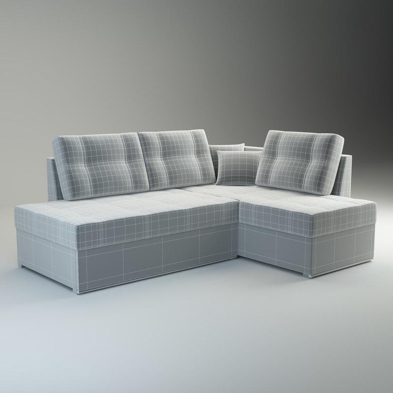 3d sofa milana