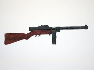 suomi submachine gun 3d max