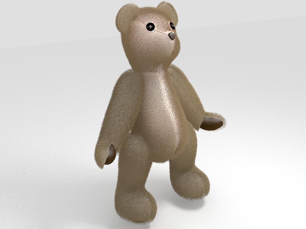 3dsmax teddy bear