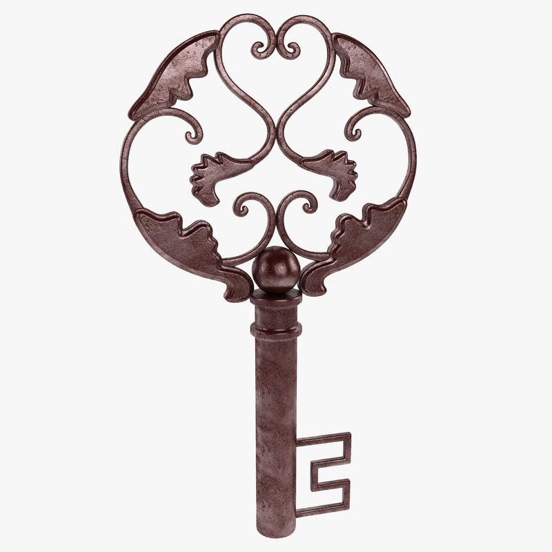 treasure key decor 3d max