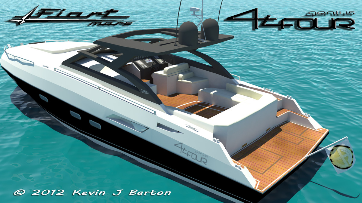 3d yacht modeled texturing