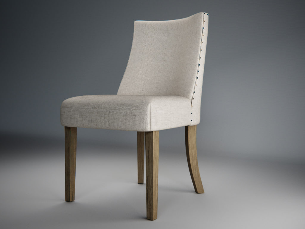 3d model classic upholstered chair