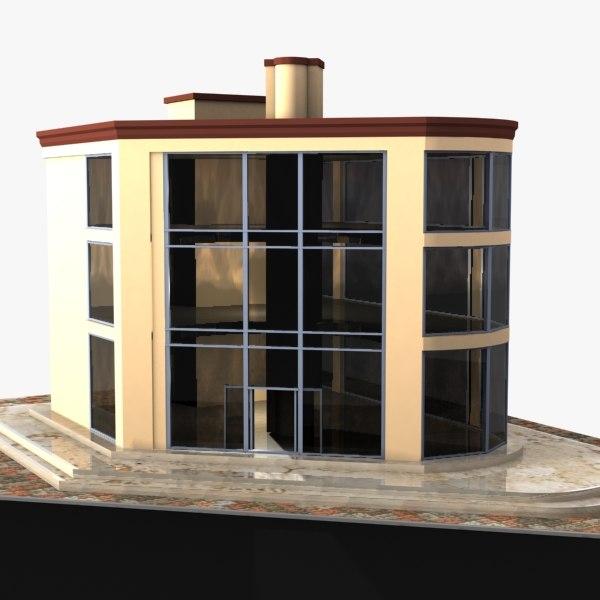 showroom 3d model