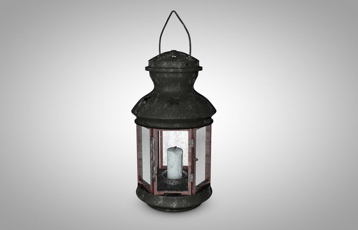 candle lanterns 3d model