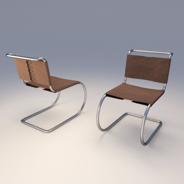 3d model mr chair mies