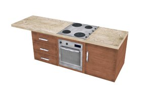 fitted kitchen cooker 3ds free