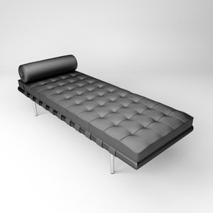 barcelona daybed sofa interior 3d model