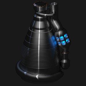 rocket thruster obj