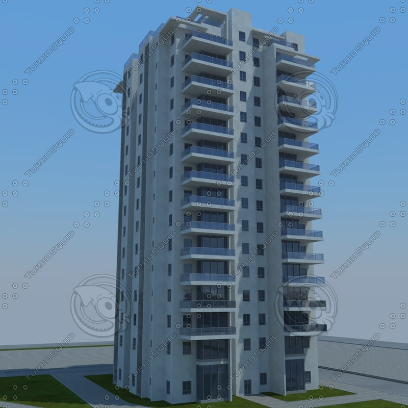 buildings 1 9 3d model
