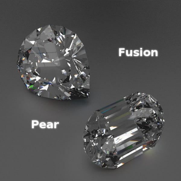 cutted gems obj