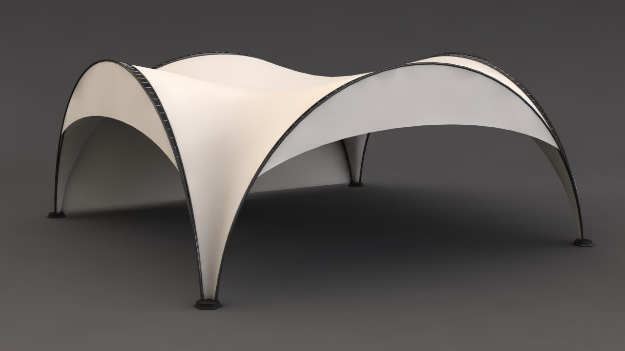 3ds max arched tent