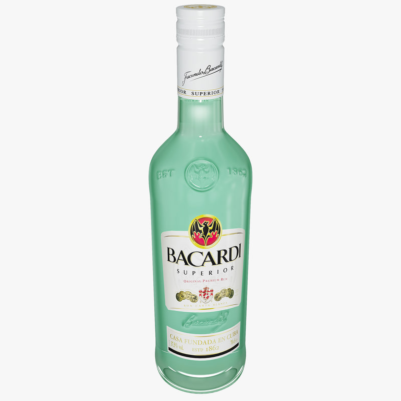 3d c4d bacardi bottle rum