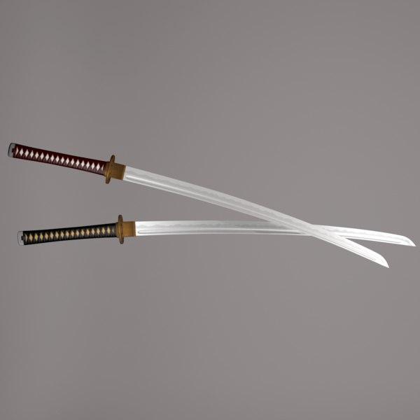 maya katana sword weapon