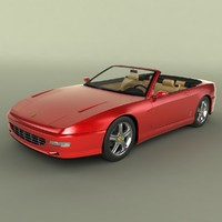ferrari 456 gt convertible 3d 3ds