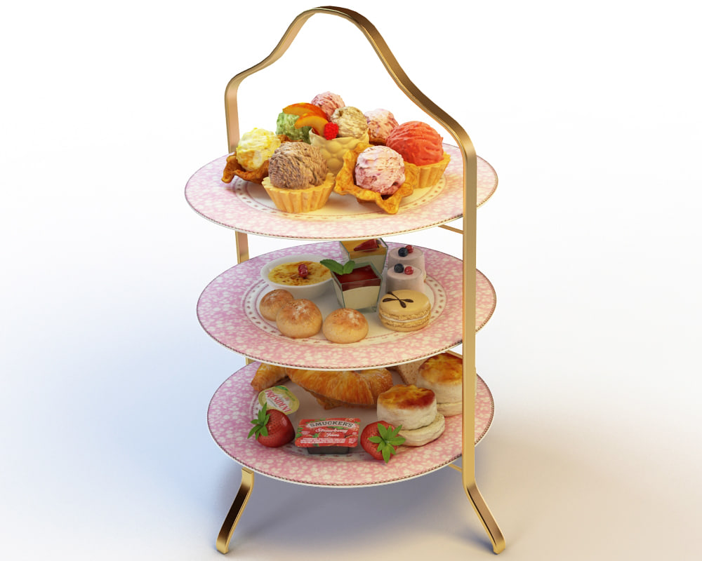 3d model afternoon tea set