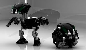 bionicle lego 3d model