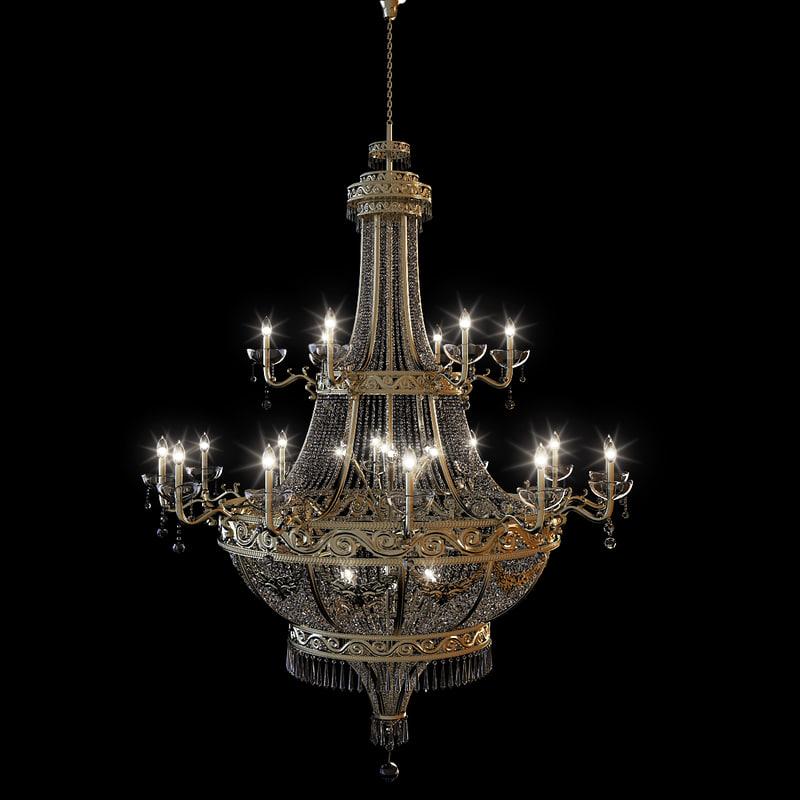 Model ornate chandelier gold 3d model ornate chandelier gold aloadofball Choice Image