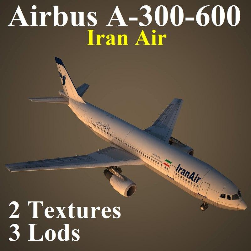3d airbus ira airliner model