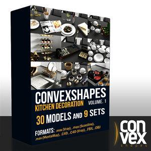 convexshapes kitchen decoration vol 1 3d model