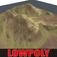 mountain maps terrain 3d model