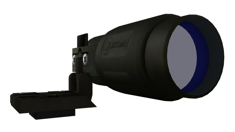 magnifier scope 3d model