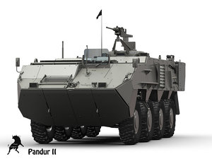3d model pandur tank