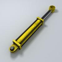 3d hydraulic cylinder piston