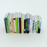 3d row books model