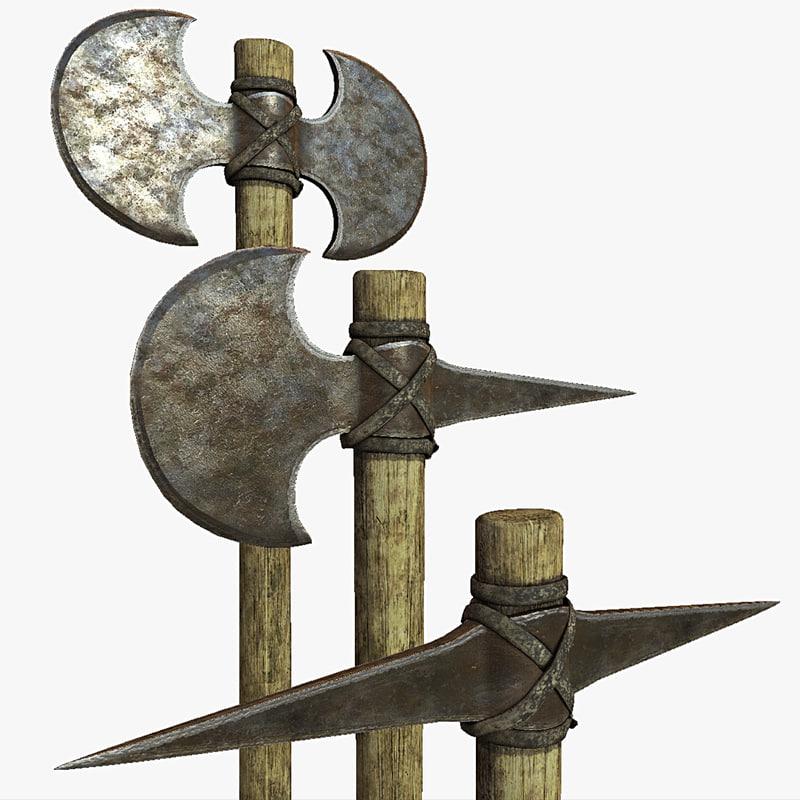 greek hoplite axe pick 3d 3ds